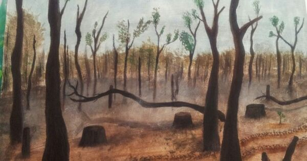 Deforestation Tempra Paint My Drawings Pinterest