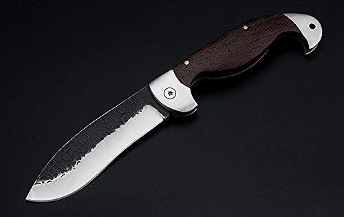Promithi Outdoor Messer Jagdmesser Klappmesser Grau