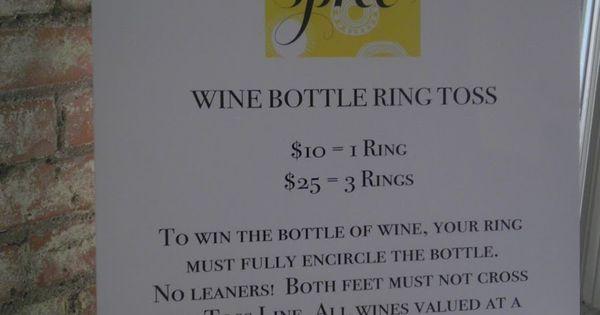 wine bottle ring toss | Fundraiser helps | Pinterest ...