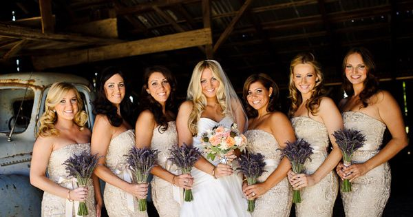 Adrianna Papell ~ Lovely Lace Bridesmaid's Dresses! Photography by kenkienow.com, Flowers by