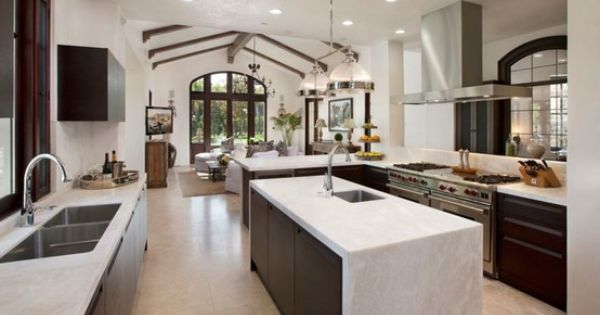Mediterranean Houses Modern Kitchens And Modern On Pinterest