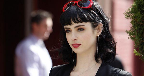 Krysten Ritter Actress Bangs Black Hair Brunettes