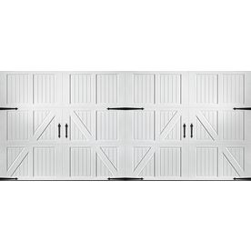 Pella Carriage House Series 192 In X 84 In White Double Garage Door 12 Garage Doors Double Garage Garage Door Design