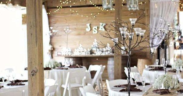 Déco mariage hiver au charme rustique ou féerie hivernale  Tables ...