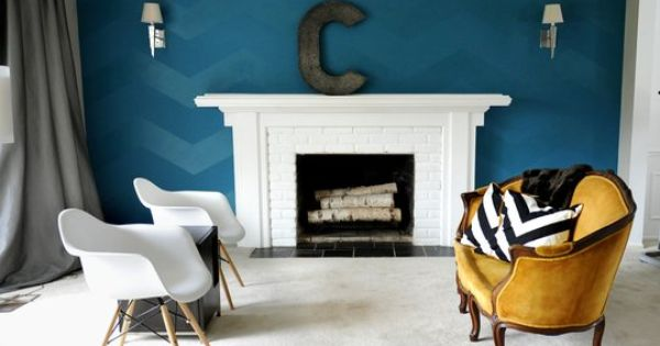 Wall color and chevron