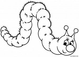 Cartoon Caterpillar Coloring Pages Insect Coloring Pages