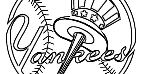yankees coloring pages - new york yankees baseball logo coloring pages coloring pages