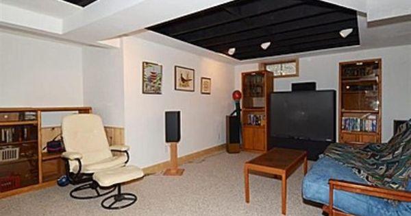 Basement Ceiling Love The Random Areas Of Painted Exposed Ceiling Home Basement Ceiling Options Basement Ceiling