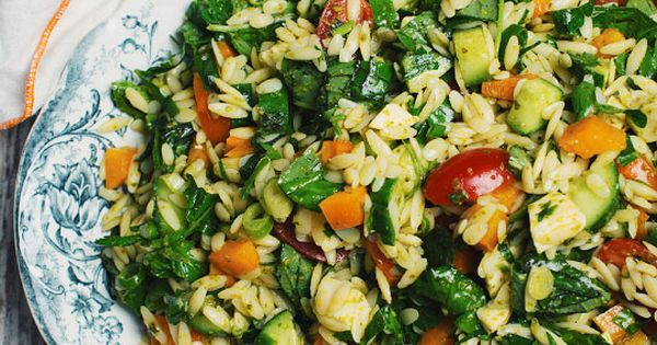 Salade d 39 orzo avec fromage bocconcini pesto et l gumes du for Le jardin fromager