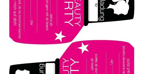Kindergeburtstag einladung m dchen partyeinladung zum for Kindergeburtstag party set