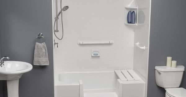 Handicap Accessible White Shower Basin By Comfort Windows Www Comfortwindows Com Bathroom