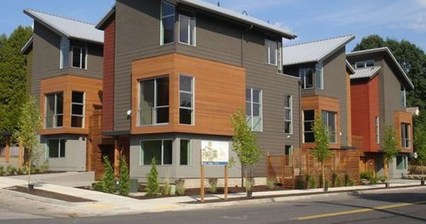 Townhouse Jetson Green Lake Houses Exterior Townhouse Designs Modern Townhouse