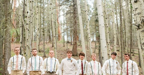 Groomsmen in suspenders - love! by deann