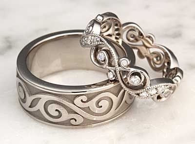 Unique Wedding Rings Unique Wedding Bands For Men Women