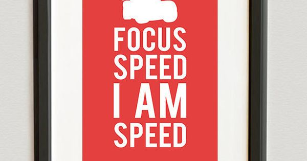 Digital File Focus Speed I Am Speed Lightning By