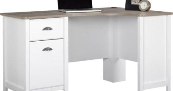 Shop Staples For Ameriwood Dover Desk Federal White Sonoma Oak And Enjoy Everyday Low Prices Plus Free Shippi Small Home Offices Home Home Office Furniture
