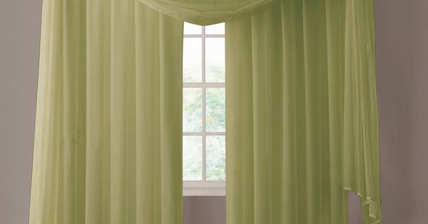 warm home designs pair of sage green sheer curtains or 13704 | 8c636047c9e7e5173a13704c3649f85a