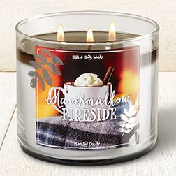 Marshmallow Fireside 3 Wick Candle Toasted Marshmallow