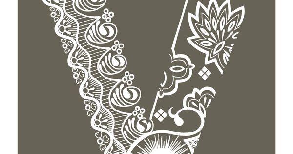 Henna Tattoo Alphabet: Henna Letters Alphabet - Google Search
