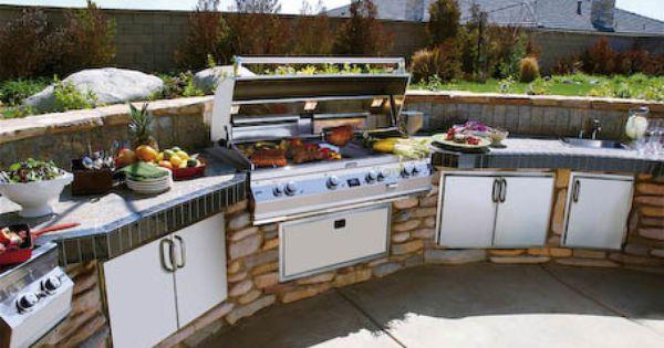 Cuisine ext rieure design envie de barbecue pinterest - Cuisine exterieure design ...