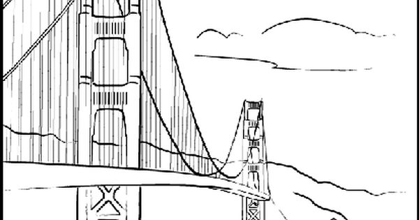 golden gate coloring pages - photo#18