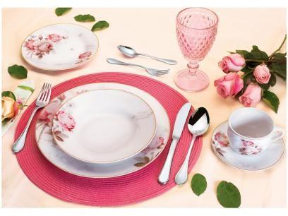 Aparelho De Jantar 30 Pecas Casambiente Porcelana Redondo Branco