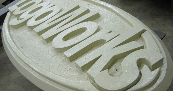 Layered xps styrofoam foam sign with hot wire factory