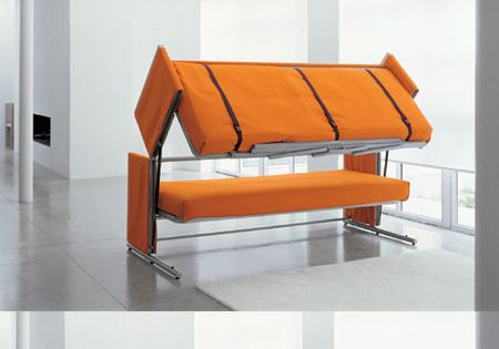 Couch to Bunk Bed Great space-saver and makes your house guest-friendly! :)
