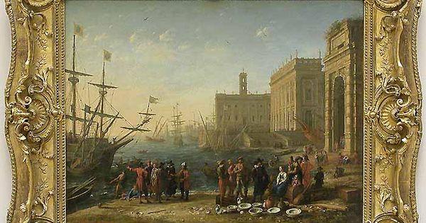 Claude gellee vue d 39 un port avec le capitole 1636 for Un porte vue