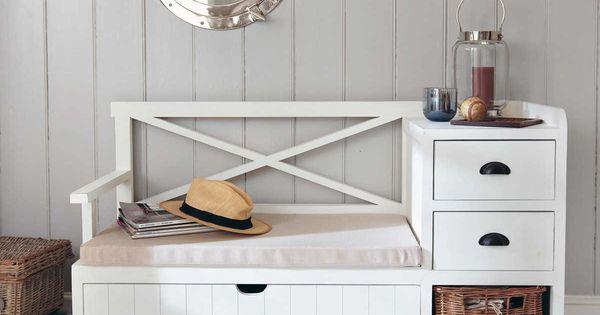 meuble d 39 entr e blanc freeport banques pinterest entr e meubles et bancs. Black Bedroom Furniture Sets. Home Design Ideas