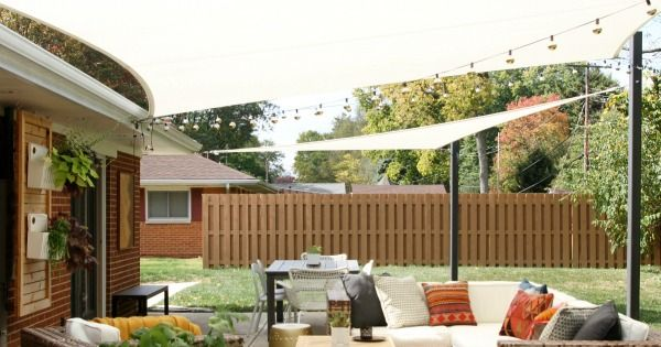 Diy shade sails for outdoor patio livning areas a how to Screens for outdoor areas