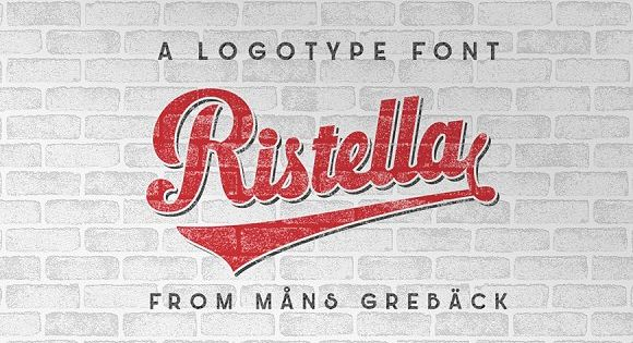 Ristella – bold and has large, attention-grabbing uppercase letters