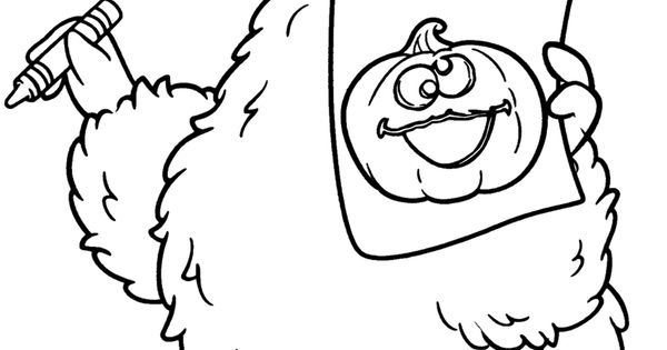 Halloween coloring pages halloween big bird from sesame for Big bird printable coloring pages