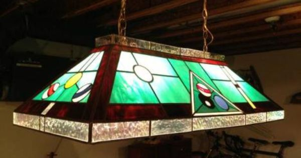 Stained Glass Pool Table Light Fixture Stained Glass