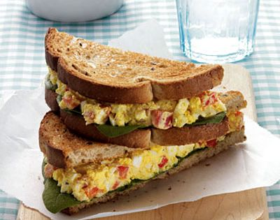 Curried Egg Salad Sandwich The curry adds a health-promoting antioxidant jolt to