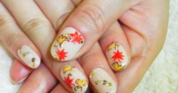 秋をモチーフにした紅葉ネイル|池袋 ネイルサロン 深爪 自爪に優しい