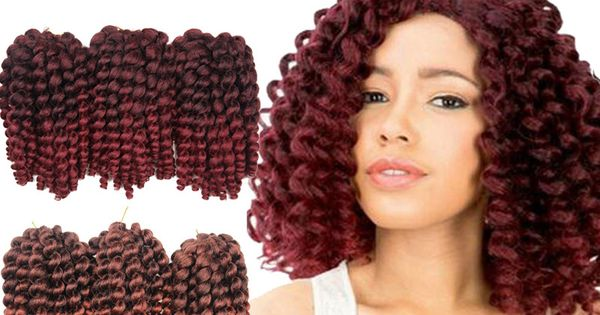 Crochet Hair Cheap : Inch Synthetic Heat Resistant Bulk Hair Cheap Wand Curl Crochet Hair ...