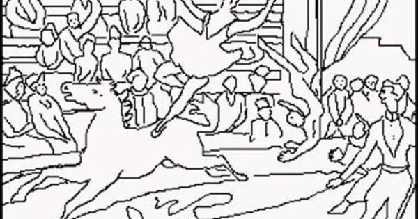 Seurat para colorear proyectos educaci n infantil for Seurat coloring pages