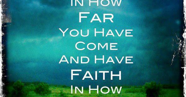 Faith the size of a mustard seed can do great things!