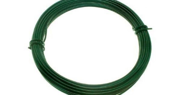 Green Plastic Coated Garden Fence Wire 2 Mm X 1 4 Mm X 15 Metres