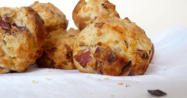 Bacon Onion Cheddar Biscuits.. these are amazing! I served with homemade potato
