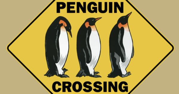 Penguin Crossing Road Sign From Sarah J Home Decor Made