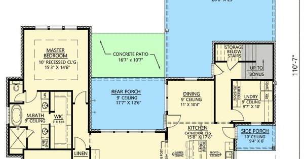 Plan 56403sm 3 Bed Acadian House Plan With Bonus Room