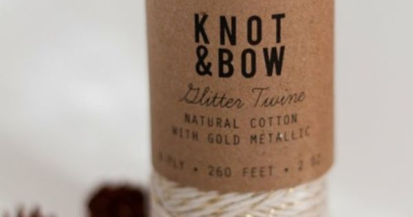 Gold glitter twine from Knot and Bow - bought this for Christmas