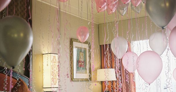 Sneak into child's room while they are sleeping and fill with balloons.