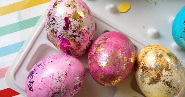Marbled Paint | Gold Leafing | Easter Eggs | Holiday Crafts |