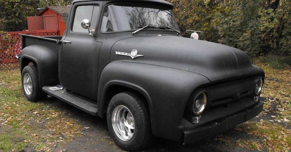 56 Ford Flat Black Paint Job Totally Awesome My