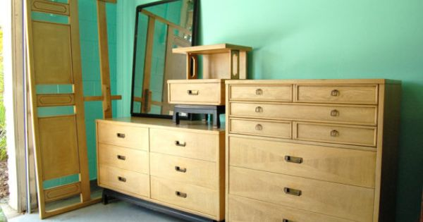 beautiful and rare bedroom set by american of martinsville 18039 | 8c9745b4118d496567f0d22b7090e830