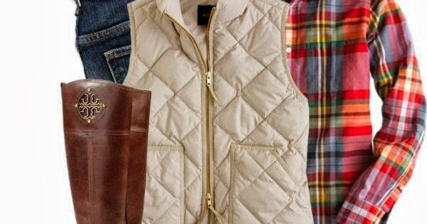 Casual Fall Outfit With Ear Tops PUFFY VEST