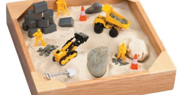 Mini sandbox with toys. Another easy homemade Christmas Gift idea that can